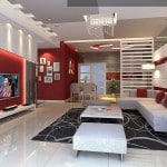 photo-decoration-déco-salon-rouge